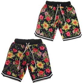 【50%OFF セール(SALE)】CONVEX コンベックス ハイビスカス柄バスケパンツ/ハーフパンツ (メール便OK)S(155〜165cm) (2019春夏)子ども服 子供服 メンズ