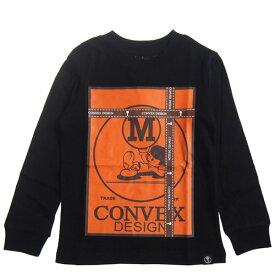 CONVEX コンベックス 110-160cm ギフトロンT クロ メール便OK 110cm/120cm/130cm/140cm/150cm/160cm 2020秋冬新作 575273 子供服 長袖Tシャツ