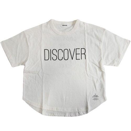 GENERATOR ジェネレーター ビッグシルエット プリント半袖Tシャツ DISCOVER ホワイト (メール便OK)S(90-100cm)/M(110-120cm)/L(130-140cm)/XL(150-160cm) (2019春夏新作)子ども服 子供服