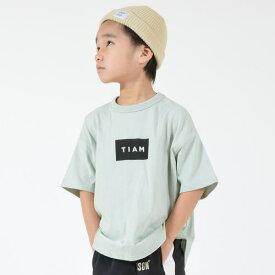 GENERATOR ジェネレーター90-160cm BOX LOGO TIAM Tシャツ(GN×TIAM) グリーン メール便OK S(90-100cm)/M(110-120cm)/L(130-140cm)/XL(150-160cm) 2020春夏新作 900602半袖Tシャツ 子供服
