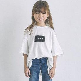 GENERATOR ジェネレーター90-160cm BOX LOGO TIAM Tシャツ(GN×TIAM) ホワイト メール便OK S(90-100cm)/M(110-120cm)/L(130-140cm)/XL(150-160cm) 2020春夏新作 900602半袖Tシャツ 子供服