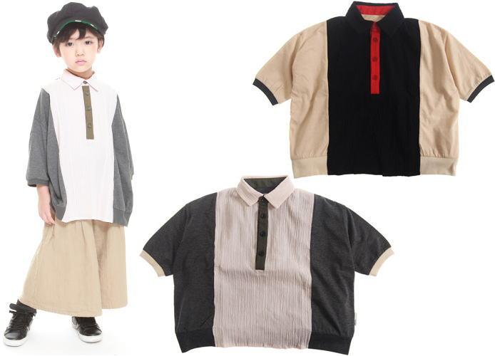 MOL モル シャツキリカエT/半袖Tシャツ (ゆうパケット(メール便)OK)130cm/140cm (2019春夏新作)子供服 子ども服