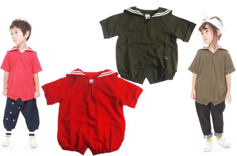 MOL モル セーラーカラーT/半袖Tシャツ (ゆうパケット(メール便)OK)90cm/100cm/110cm/120cm (2019春夏新作)子供服 子ども服