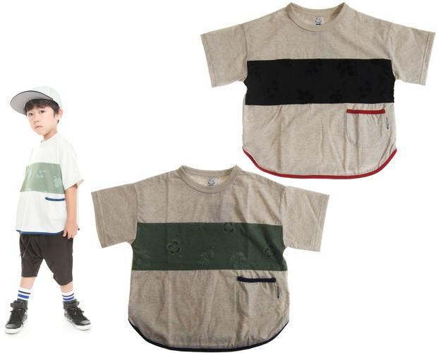 MOL モル michikusaキリカエT/半袖Tシャツ (ゆうパケット(メール便)OK)90cm/100cm/110cm/120cm (2019春夏新作)子供服 子ども服 ベビー服