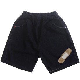 【再入荷】MOL モル MLP plaster half pants/絆創膏アイロンワッペン付きデニムハーフパンツ (メール便OK)FREE(Ladies') (定番商品)MOL 子供服 モル 子ども服 レディース