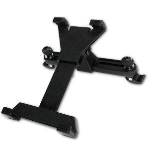iPad Air2 車載ホルダー ブラック タブレットPC 後部座席用 縦横自由 強力 カーホルダー スタンド カー用品 簡単装着 取付 フレキシブルネック ドライブ 旅行 車 ホルダー iPad タブレットPCホル