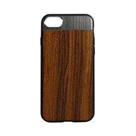 高級感のある木目調に組み合わせたメタルパーツ iPhone8 / iPhone7 対応 STD ハイブリッドケース メール便送料無料