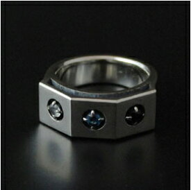 (オーダー品)(FUNKOUTS/cooldust) オリオンデザインリング(ムーンストーン/ブルートパーズ/ロンドンブルートパーズ) / orion's belt ring(蝶々/バタフライ/ちょう/アクセサリー)【楽ギフ_包装】