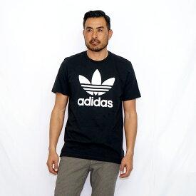 アディダス Tシャツ メンズ TREFOIL TEE トレフォイル CW0709 black adidas 【新品2点以上ネコポス不可】
