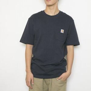 カーハート Tシャツ WORKWEAR POCKET S/S T-SHIRT ワークウェア ポケット ショートスリーブ ティーシャツ メンズ 男性用 K87 NAVY NVY CARHARTT ギフト 【新品】