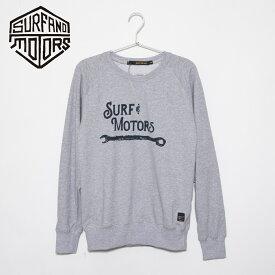 サーフアンドモータース CREWNECK SWEATSHIRT メンズ トレーナー クルーネックスウェットシャツ SM03SWT001 HEATHER GRAY SURF&MOTORS ギフト 【新品】
