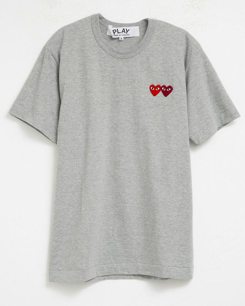 ポイント15倍 コムデギャルソン Tシャツ COMME des GARCONS AZ-T226 PLAY メンズ プレイ 男性用 半袖 ワンポイント ハート GRAY×RED バレンタイン ギフト 【新品】【dl】brand