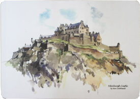 CASTLE MELAMINE Table MatEdinburgh Castle TMCM61