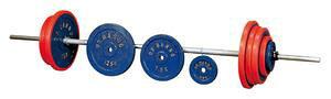 【送料無料】ダンノ (DANNO) 正式バーベル (ベアリング回転式) 100kgセット D-651