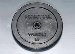 マーシャルワールド(MARTIAL WORLD) 【送料別途 説明欄に記載】PLATE ラバープレート穴径28mm 10.0kg