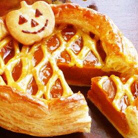 送料無料 ハロウィン手作りパンプキンパイ 6号18cmお届け日を10/30〜11/2よりお選びくださいハロウィン かぼちゃ 人気 かわいい スイーツ イベント パーティー 誕生日ケーキ
