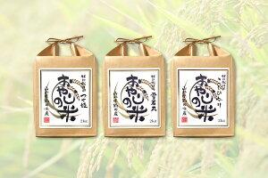 【令和元年産 新米】おやじの米(せがれの肥料仕込)コシヒカリ・つや姫・雪若丸 食べ比べセット白米 2kg×3品種