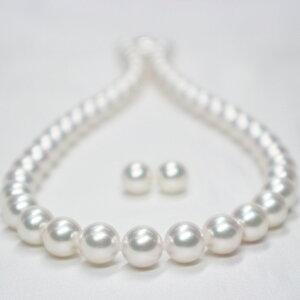 【オーロラ花珠真珠鑑別鑑定書付き】8.5mm〜9.0mm オーロラ花珠 アコヤパール ネックレス+ピアスorイヤリング セット(S−689231)オーロラ花珠真珠 本真珠 あこや真珠 アコヤ真珠 パールネック