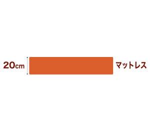 セレクトマットレスボンネルコイルスプリング(線の直径2.5mm)クイーンサイズ(160×195cm)オレンジ
