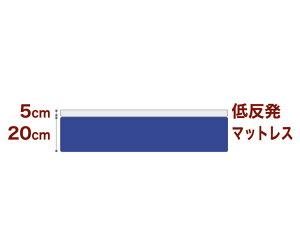 セレクトマットレスボンネルコイルスプリングベッド+厚さ5cm低反発マットキングサイズ(180×195cm)ブルー