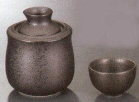 【美濃焼】酒器1合徳利 黒結晶 冷酒燗器(盃付)