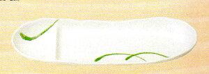【美濃焼】白織部一珍舟 仕切 さんま皿 さんま/サンマ/秋刀魚/秋/七輪/大根おろし/大根/ダイコン/かぼす/カボス/明石家さんま/祭り/秋祭り/モミジ/紅葉/もみじ/紅葉/炭/魚/月見/収穫祭/新