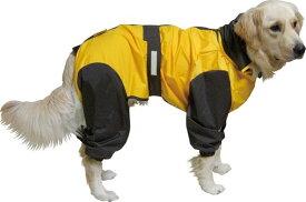 大型犬用レインコート 超はっ水安全コート 【マンゴー×こげ茶】大型犬 レインコート