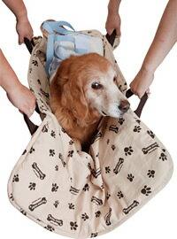 【大型犬用介護用品】3WAY抱っこハニカムマット(ショルダー付)