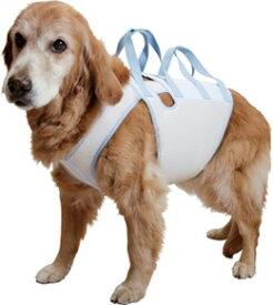 【大型犬用介護用品】【4シーズン】着たままねんねのハニカム胴着・ハニカムアシスタントバンド持ち手2ヶ所タイプ