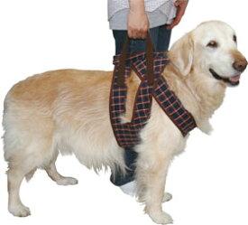 【大型犬用介護用品】着たままねんねのハニカム胴着・ハニカムアシスタントバンド紺色持ち手1ヶ所タイプ