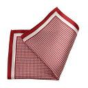 ポケットチーフ チーフ シルク100% スクエア 千鳥格子 レッド 赤色 紳士 胸ポケット メンズ 男性用 ギフト OZIE 日本製 国産 ギフト