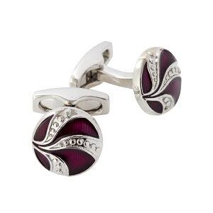 送料無料 サイモンカーター SIMON CATER イギリス製 Art Deco Enamel Purple Button カフリンクス カフスボタン ドーム型 ギフト|メンズ ビジネス おしゃれ カフス 彼氏 ブランド 男性 プレゼント ボタン