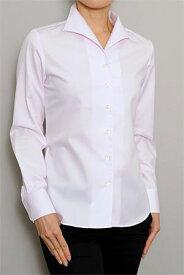 レディースシャツ レディース ワイシャツ|長袖 ピンク おしゃれ 日本製 長袖シャツ ブラウス オフィス イタリアンカラーシャツ プレミアムコットン イージーケア 母の日 yシャツ イタリアンカラー ドレスシャツ ビジネス ビジネスワイシャツ 綿100% カッターシャツ