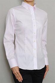 レディースシャツ レディース ワイシャツ|ドレスシャツ 長袖 ピンク おしゃれ 綿100% 日本製 ボタンダウンシャツ ブラウス Yシャツ オフィス ボタンダウン イージーケア ドビー スリムフィット 細身 ビジネス ビジネスワイシャツ スリム カッターシャツ 長袖シャツ