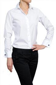 レディースシャツ レディース 高級 ワイシャツ|ダブルカフス シャツ ドレスシャツ 長袖 綿100% yシャツ ビジネス 日本製 カフス 形態安定 ノーアイロン カフスシャツ ビジネスシャツ カッターシャツ ブラウス オフィス ワイドカラー 白 おしゃれ 白シャツ 長袖シャツ 女性用