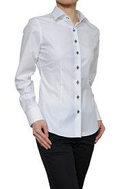 レディースシャツ レディース ワイシャツ|長袖 日本製 ビジネスシャツ ブラウス 4L オフィス 白 無地 ワイドスプレッドカラー ホワイト イージーケア yシャツ 白ワイシャツ 白シャツ おしゃれ ドレスシャツ ビジネスワイシャツ スリム カッターシャツ 大きいサイズ