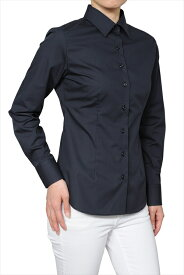形態安定シャツ 形状記憶 レディースシャツ レディース ワイシャツ|長袖 おしゃれ ノーアイロン 日本製 ビジネスシャツ ブラウス 細身 オフィス スリムフィット ワイドカラー 黒 ブラック 大きいサイズ yシャツ ドレスシャツ ビジネスワイシャツ スリム カッターシャツ