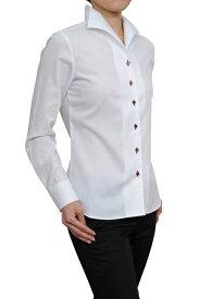 レディースシャツ レディース ワイシャツ |イタリアンカラー シャツ ドレスシャツ 長袖 ビジネス ノーネクタイ ノーアイロン yシャツ 長袖シャツ ブラウス おしゃれ 形態安定 日本製 ビジネスシャツ カッターシャツ ボタンダウン しわになりにくい 白シャツ シワになりにくい