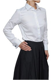 送料無料 レディースシャツ レディース 高級 ワイシャツ | シャツ ダブルカフス クールマックス ドレスシャツ 長袖シャツ おしゃれ 長袖 カフス yシャツ ビジネスシャツ 日本製 カッターシャツ ブラウス オフィス ビジネス 女性 coolmax 敬老の日 速乾
