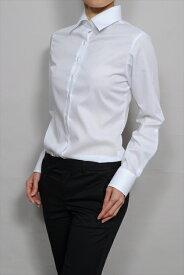 レディース シャツ ワイシャツ   ドレスシャツ 長袖 ビジネス yシャツ おしゃれ クールビズ ブラウス 日本製 ビジネスシャツ オフィス カッターシャツ クールマックス 大きいサイズ 白シャツ 白 ワイドカラー 長袖ワイシャツ coolmax 夏 高級 女性 ミセス 事務服 きれいめ