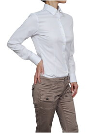 レディースシャツ レディース ワイシャツ | シャツ ドレスシャツ 長袖 yシャツ おしゃれ スリム クールビズ ブラウス 日本製 ビジネスシャツ オフィス カッターシャツ クールマックス 大きいサイズ 白シャツ イージーケア coolmax 夏 高級 女性 事務服 きれいめ 吸水速乾