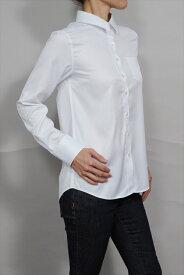 レディース シャツ ワイシャツ リラックスフィット   ドレスシャツ 長袖 ビジネス yシャツ おしゃれ クールビズ ブラウス 日本製 ビジネスシャツ オフィス カッターシャツ クールマックス 大きいサイズ 白シャツ ワイドカラー coolmax 夏 高級 女性 ミセス 事務服 きれいめ