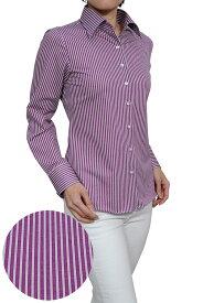 ビズポロ ニット レディース 長袖ワイシャツ | ワイシャツ シャツ 高級 おしゃれ ドレスシャツ ビジネス 夏 涼しい ポロシャツ 生地 日本製 カッターシャツ パープル 紫 ビジネスシャツ yシャツ ニットシャツ ワイドカラー 夏用 ノーアイロン クールビズ カラー 大きいサイズ