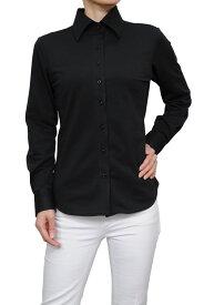 ビズポロ ニット レディース 長袖ワイシャツ | ワイシャツ シャツ 高級 ドレスシャツ おしゃれ ビジネス 黒 yシャツ ニットシャツ 日本製 ポロシャツ 生地 カッターシャツ ビジネスシャツ ブラック ワイドカラー 夏 涼しい かわいい 母の日 プレゼント テレワーク 在宅勤務