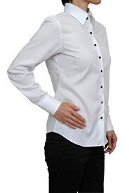 レディース シャツ ワイシャツ| ドレスシャツ 長袖 ビジネス yシャツ おしゃれ ブラウス 日本製 ビジネスシャツ オフィス カッターシャツ 大きいサイズ ホワイト 白 女性用 ワイドカラー オシャレ