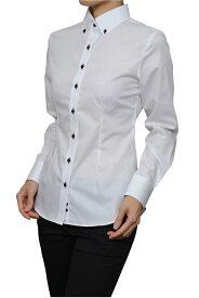 レディースシャツ レディース 高級 ワイシャツ | スリム ドレスシャツ ボタンダウンシャツ 長袖 綿100% ビジネス 日本製 形態安定 おしゃれ 3L カッターシャツ ブラウス Yシャツ ボタンダウン オフィス 白 ホワイト シャツ 白シャツ ビジネスシャツ 長袖シャツ 女性用