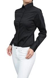 レディースシャツ レディース レディス ワイシャツ|ビジネス 長袖 ストレッチ 日本製 ボタンダウンシャツ ブラウス Yシャツ オフィス ボタンダウン ブラック 黒 細身 おしゃれ ドレスシャツ ビジネスワイシャツ スリム カッターシャツ 大きいサイズ