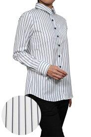 レディース シャツ ワイシャツ リラックスフィット| ドレスシャツ 長袖 ビジネス yシャツ おしゃれ ブラウス 綿100% プレミアムコットン 日本製 ビジネスシャツ オフィス カッターシャツ 大きいサイズ 4L 白シャツ 白ワイシャツ ワイドカラー