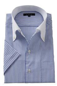 半袖ワイシャツ yシャツ 半袖シャツ クールマックス 高級 | メンズ ワイシャツ イタリアンカラー シャツ 青 ドレスシャツ ノーネクタイ おしゃれ ビジネス ボタンダウンシャツ クールビズ ボタンダウン スリム ビジネスシャツ 夏 クール 涼しい 夏用 cool 父の日 ギフト 涼感