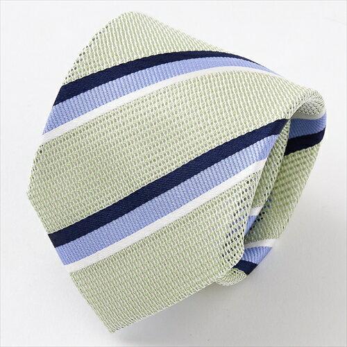 美しい透け感が魅力のフレスコタイ シルク100% ネクタイ 日本製ネクタイ 搦み織 からみおり 絡み織 タイ レジメンタル グリーン 緑 メンズ 男性用 ギフト フレスコネクタイ OZIE ギフト